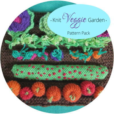 knit veggie garden pattern pack handwork homeschool